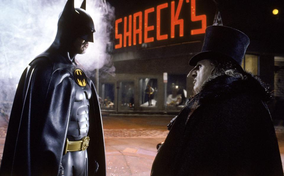 BATMAN RETURNS, Micheal Keaton, Danny DeVito, 1992. Warner Bros./courtesy Everett Collection