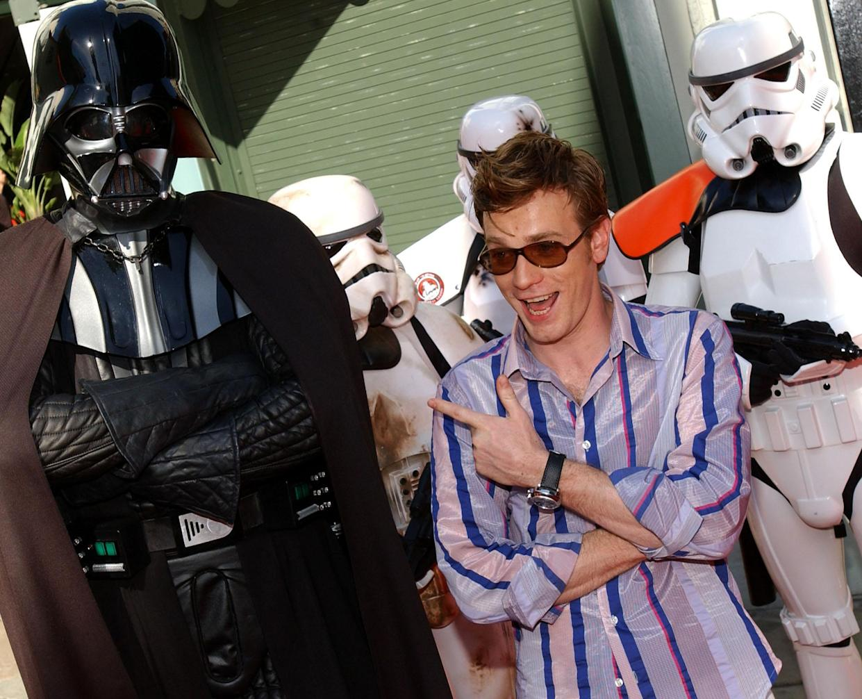 Ewan McGregor (in 2002) had to be cagey about reprising his Star Wars role. (Photo: LUCY NICHOLSON/AFP via Getty Images)