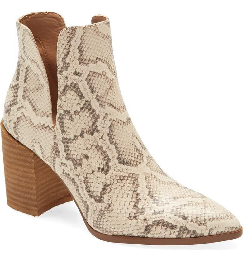 "<p><strong>Steve Madden</strong></p><p>nordstrom.com</p><p><strong>$134.95</strong></p><p><a href=""https://go.redirectingat.com?id=74968X1596630&url=https%3A%2F%2Fwww.nordstrom.com%2Fs%2Fsteve-madden-kaylah-pointed-toe-bootie-women%2F5598739&sref=https%3A%2F%2Fwww.townandcountrymag.com%2Fstyle%2Ffashion-trends%2Fg28225508%2Ffall-boots%2F"" rel=""nofollow noopener"" target=""_blank"" data-ylk=""slk:Shop Now"" class=""link rapid-noclick-resp"">Shop Now</a></p><p>For the woman who already owns booties in every color, these snakeskin patterned versions are the perfect excuse to buy another pair of your favorite style. </p>"