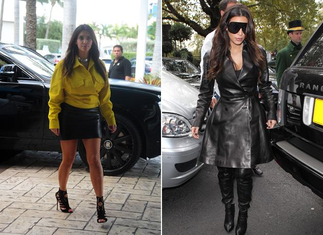 Worst dressed celebrities 2012: Kim Kardashian was once one of the chicest celebrities around. But since her relationship with Kanye West blossomed in 2012, her sense of style has gone off the rails – as these two get ups prove.