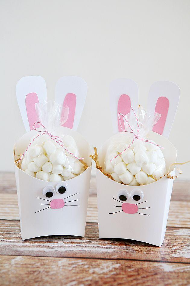 """<p>With this easy-to-follow DIY, you can turn unused fry boxes (head to Amazon rather than your local fast food chain) into adorable bunnies. </p><p><a class=""""link rapid-noclick-resp"""" href=""""https://www.amazon.com/Disposable-Snack-Containers-French-Holders/dp/B07MDL9CH4/?tag=syn-yahoo-20&ascsubtag=%5Bartid%7C10055.g.480%5Bsrc%7Cyahoo-us"""" rel=""""nofollow noopener"""" target=""""_blank"""" data-ylk=""""slk:SHOP FRY BOXES"""">SHOP FRY BOXES</a></p><p><a href=""""http://eighteen25.com/2015/03/fry-box-bunny-easter-treat-containers/"""" rel=""""nofollow noopener"""" target=""""_blank"""" data-ylk=""""slk:Get the tutorial from Eighteen25 »"""" class=""""link rapid-noclick-resp""""><em>Get the tutorial from Eighteen25 »</em></a></p>"""