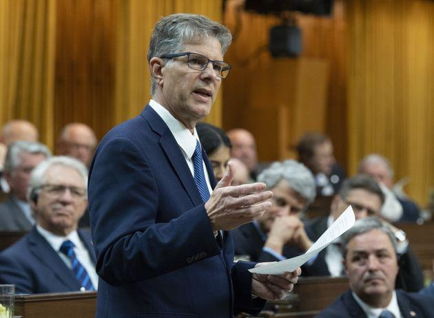 Conservative MP Mark Warawa delivers his final speech in the House of Commons on May 7, 2019.