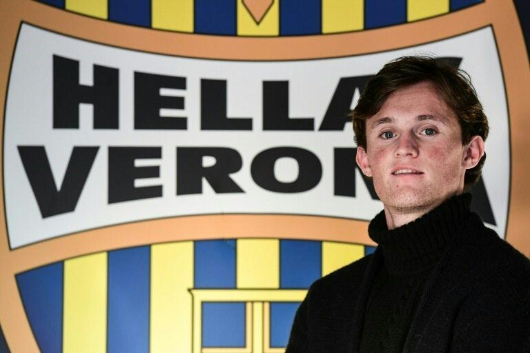 Scottish midfielder Liam Henderson joined Verona in August 2018. (AFP Photo/Miguel MEDINA)