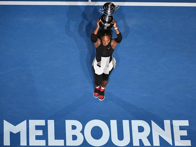 Serena beat Steffi Graf's record of 22 Grand Slams with victory in Melbourne: Getty