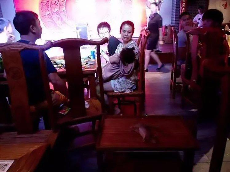 Young children were present when the rat made its appearance. Source: AsiaWire