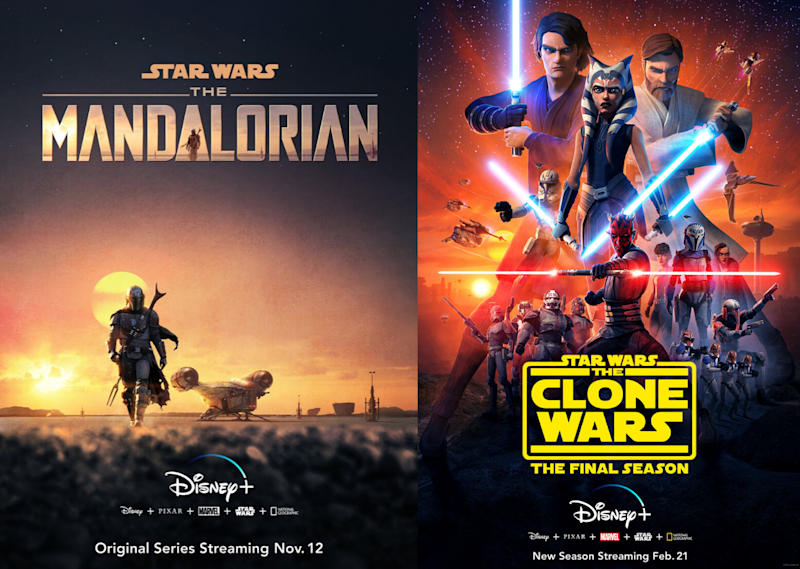Star Wars series available to watch on Disney+. Images via IMDB.