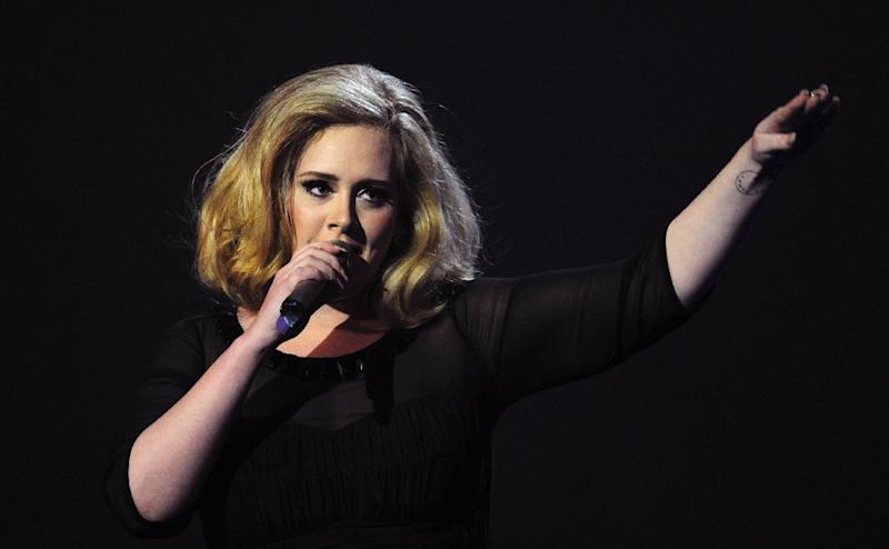 """Adele's """"25"""" was by far the top-selling album in both the US and Britain for 2015 even though it came out on November 20 (AFP Photo/Leon Neal)"""