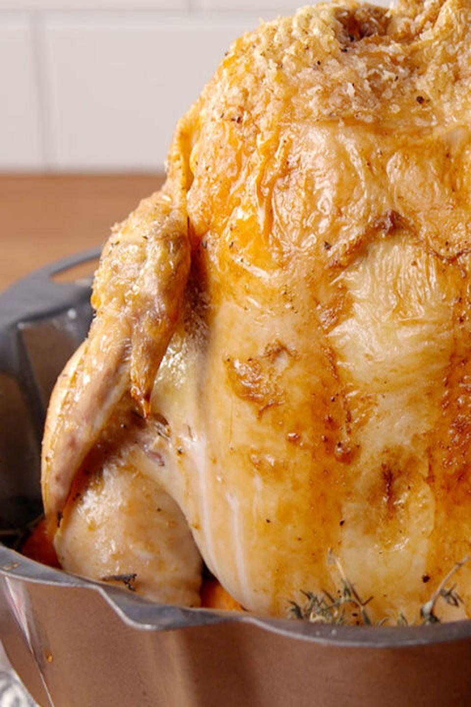 "<p>This easy hack results in a perfect roast chicken, and the veggies to go along with it!</p><p><strong><a href=""http://www.delish.com/cooking/recipe-ideas/recipes/a51763/bundt-pan-roast-chicken-recipe/"" rel=""nofollow noopener"" target=""_blank"" data-ylk=""slk:Get the recipe."" class=""link rapid-noclick-resp"">Get the recipe.</a> </strong><br></p><p><a class=""link rapid-noclick-resp"" href=""https://www.amazon.com/Nordic-Ware-Platinum-Collection-Bundt/dp/B00004RFQ4?tag=syn-yahoo-20&ascsubtag=%5Bartid%7C10050.g.680%5Bsrc%7Cyahoo-us"" rel=""nofollow noopener"" target=""_blank"" data-ylk=""slk:SHOP BUNDT PANS"">SHOP BUNDT PANS</a> </p>"