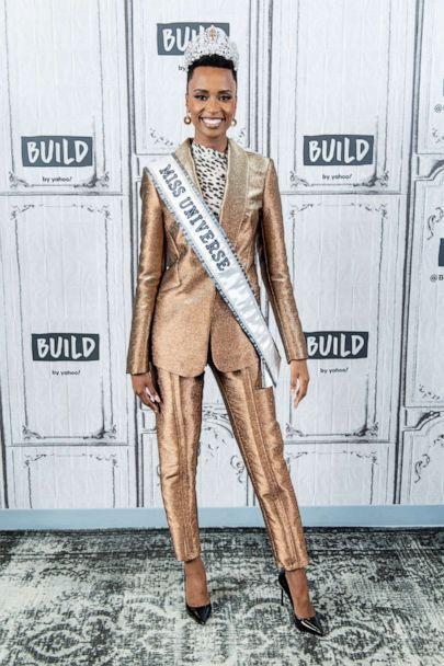 PHOTO: Zozibini Tunzi discusses Miss Universe with the Build Series at Build Studio on December 12, 2019 in New York City. (Roy Rochlin/Getty Images)