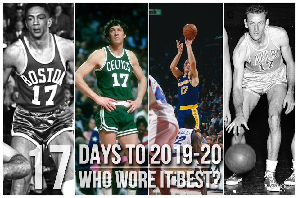 Which NBA player wore No. 17 best?
