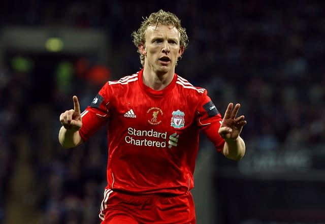 Dirk Kuyt completed an incredible Liverpool comeback against Manchester City in 2008 (Nick Potts/PA)