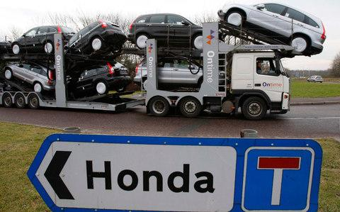Honda car transporter - Credit: Reuters