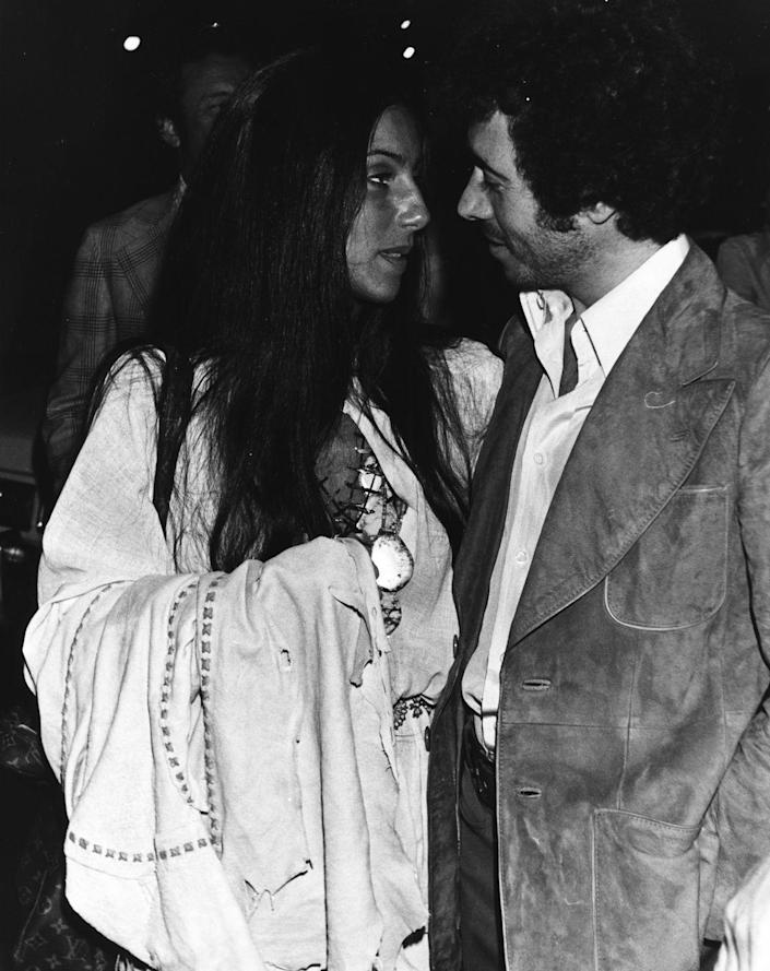 <p>While estranged from her husband Sonny Bono in the mid-70s, Cher started dating music producer David Geffen. The two dated for two years before splitting, and Cher went on to become a mega-star and solo act and Geffen (who has since come out as gay) went on to create a recording empire and is co-founder of DreamWorks. </p>