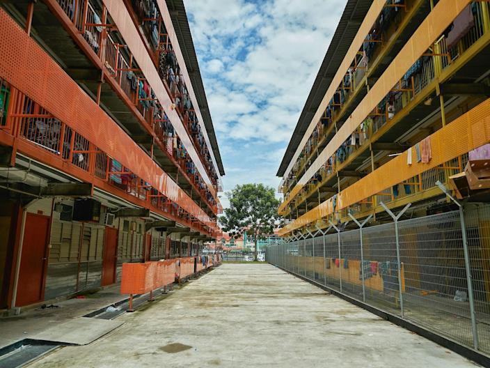 <br>A general view of S11 Punggol dormitory in Singapore on April 7, 2020.