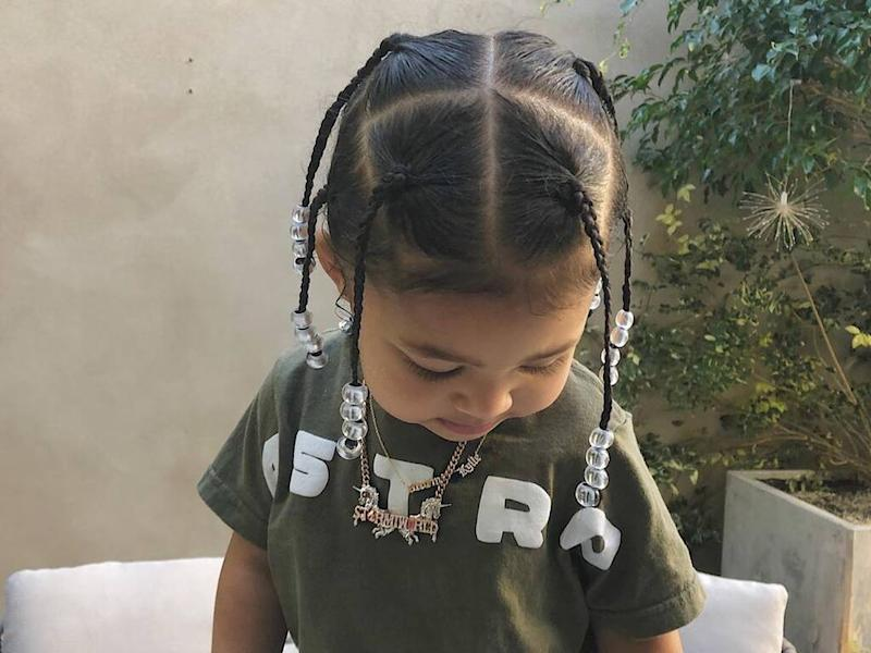 Travis Scott shares adorable pictures of daughter Stormi rocking 'daddy's hair'