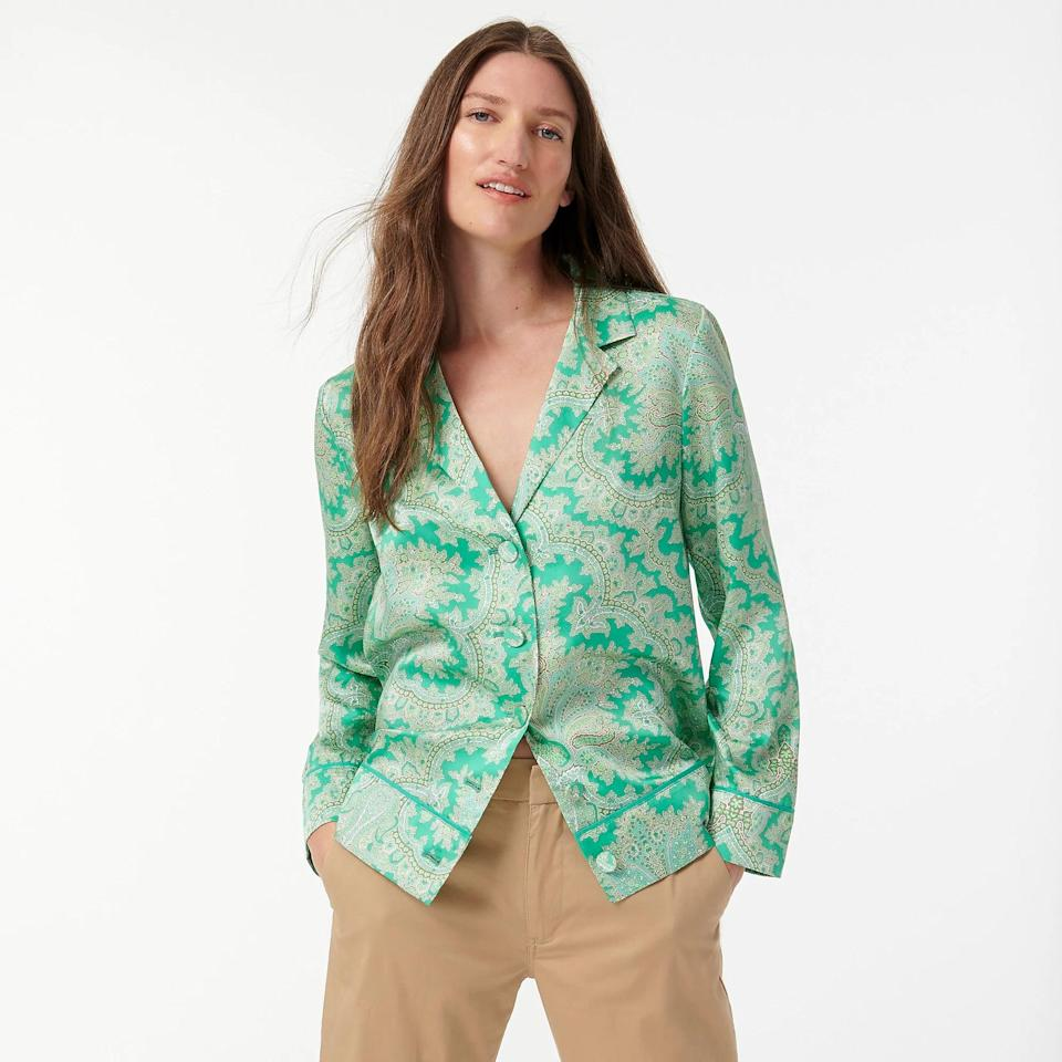 <p>You'd be forgiven to think this <span>Drapey Button-up Top</span> ($93, originally $168 (plus extra 60% off with code SALETIME) is only one half of a pajama set. While you can enjoy a luxurious night in this chic number, you can also totally style it for the outside world. I mean, more people need to see this stunning paisley print!</p>