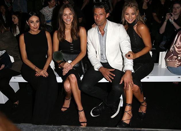 Terry Biviano in the front row at Misha Collection alongside Ksenija Lukich, Tim Robards and Anna Heinrich. Photo: Getty Images