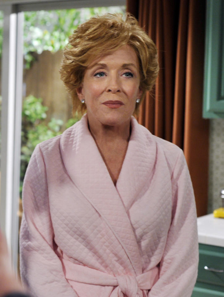 "<span style=""font-weight:bold;"">Holland Taylor </span>as Evelyn Harper, ""Two and a Half Men"" (2003-present)<br><br>Outstanding Supporting Actress in a Comedy Series<br><br>0 wins, 4 nonconsecutive nominations (2004-2009)"