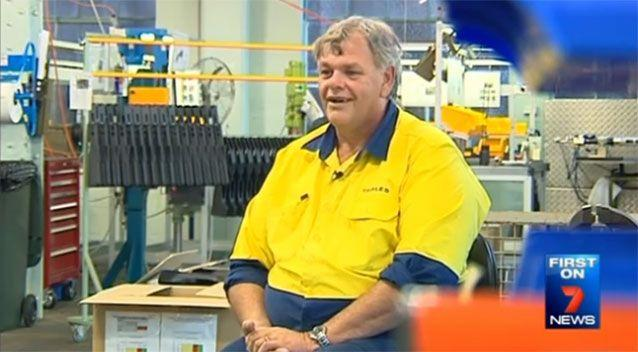 Thales worker Wayne Gurney. Source: 7 News