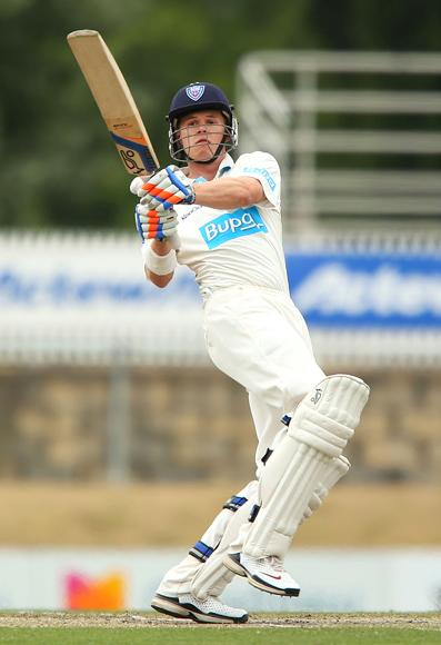 Scott Henry of the Chairman's XI bats during day two of the international tour match between the Chairman's XI and Sri Lanka at Manuka Oval on December 7, 2012 in Canberra, Australia.  (Photo by Brendon Thorne/Getty Images)