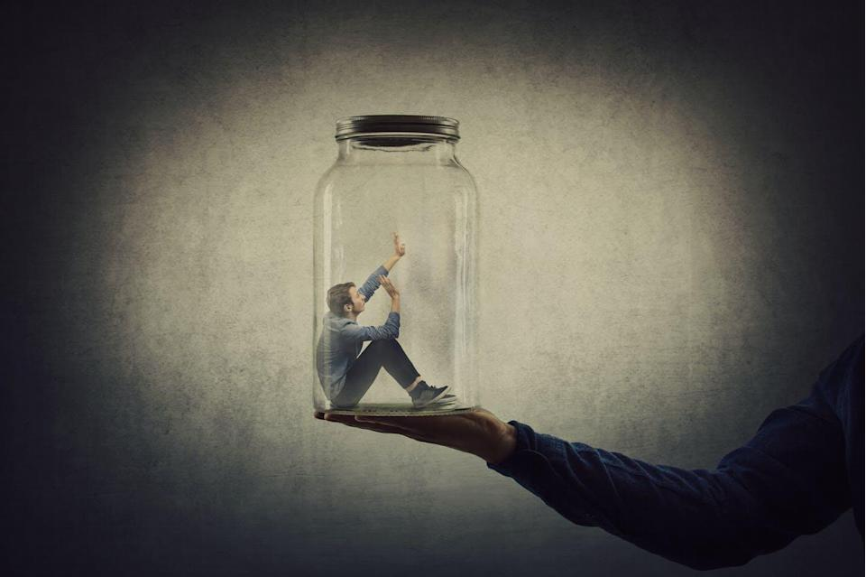 """<span class=""""attribution""""><a class=""""link rapid-noclick-resp"""" href=""""https://www.shutterstock.com/es/image-photo/business-concept-scared-tiny-man-trapped-1576844029"""" rel=""""nofollow noopener"""" target=""""_blank"""" data-ylk=""""slk:Shutterstock / StunningArt"""">Shutterstock / StunningArt</a></span>"""