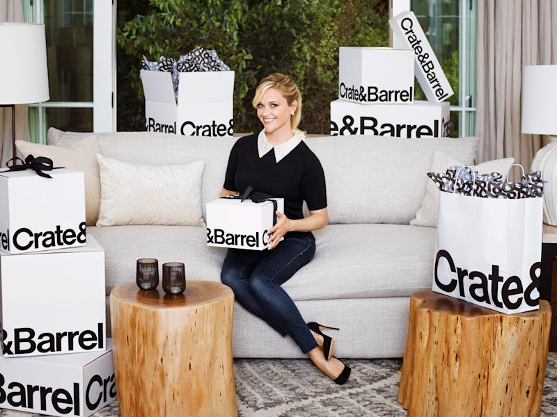 reese witherspoon 39 s crate and barrel collaboration cements her lifestyle guru status. Black Bedroom Furniture Sets. Home Design Ideas