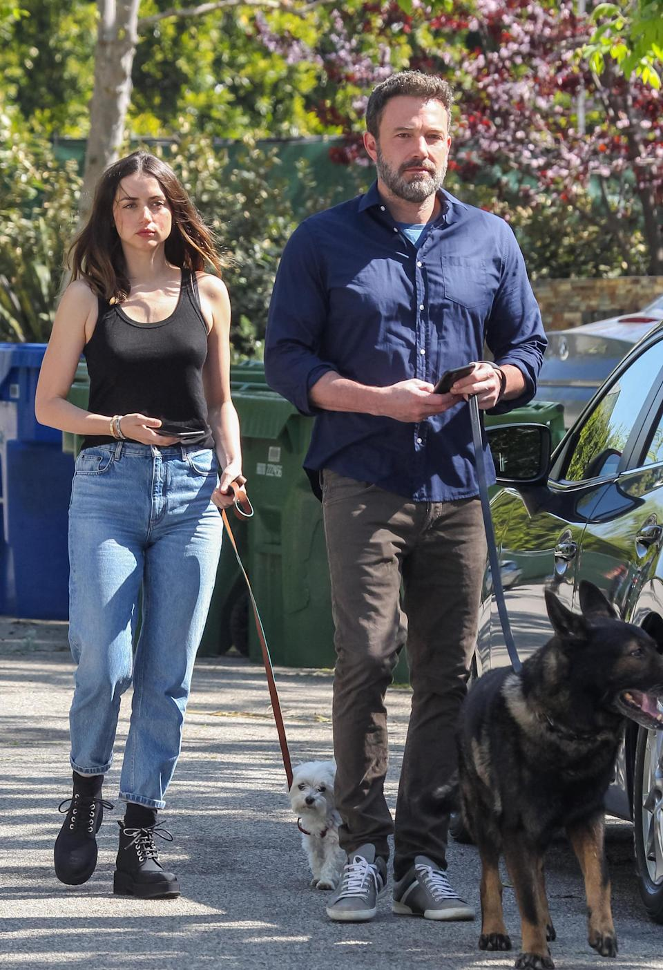"""<p><a href=""""https://www.popsugar.com/celebrity/ben-affleck-ana-de-armas-break-up-48114270"""" class=""""link rapid-noclick-resp"""" rel=""""nofollow noopener"""" target=""""_blank"""" data-ylk=""""slk:Ana and Ben decided to part ways"""">Ana and Ben decided to part ways</a> after nearly one year together in January. According to <strong>People</strong>, Ana was the one who """"broke it off."""" A source added, """"Their relationship was complicated. Ana doesn't want to be Los Angeles-based and Ben obviously has to, since his kids live in Los Angeles.""""</p>"""