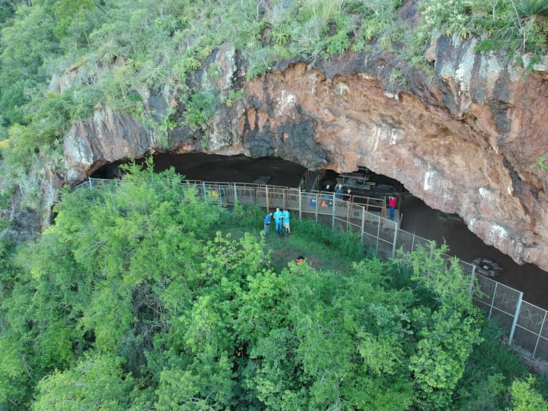 Entrance to the Border Cave in South Africa