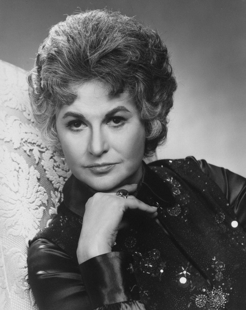 <p>Here Arthur is pictured in her other famed role Maude Findlay, the much-married, super opinionated feminist icon who guest starred on the show <em>All in the Family</em> before getting her own CBS spinoff <em>Maude</em>.</p>