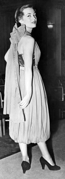 <p>Could it be? A distant relative of harem pants? The first-ever bubble hem hits the scene in 1949.</p>