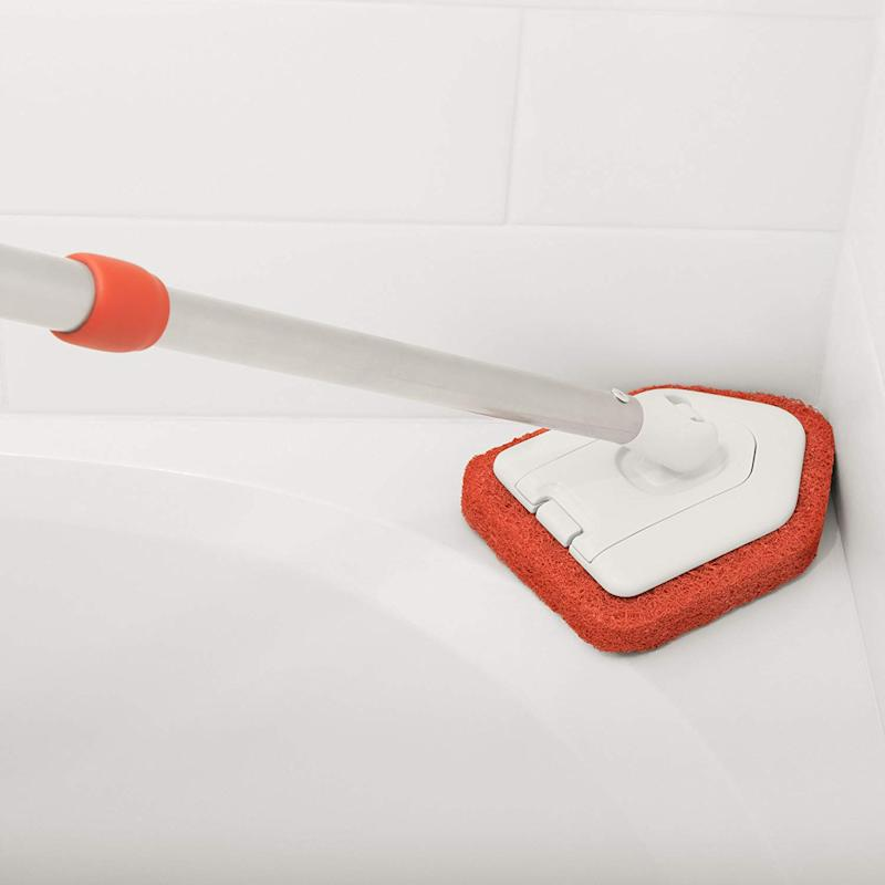 OXO Good Grips extendable tub and tile scrubber. (Photo: OXO)