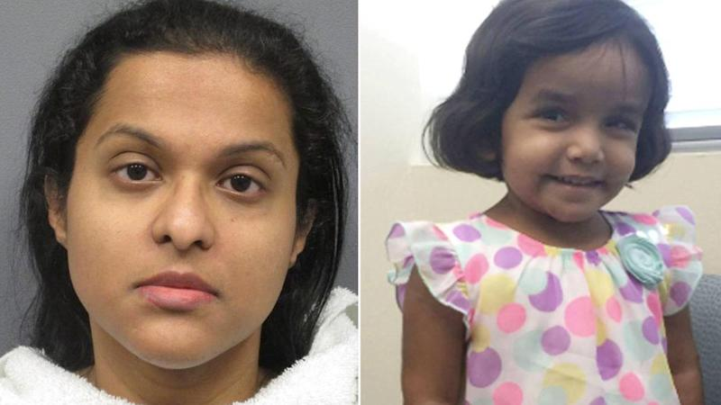 Mom of 3-Year-Old Sherin Mathews, Found Dead Last Month, Charged With Abandonment