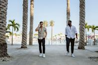 """<p><strong>Location: </strong>Los Cabos, Mexico</p> <p><em>Dancing With the Stars</em> pros Keo Motsepe and Gleb Savchenko escaped to the sun and sand on a recent five-day vacation to the luxurious, all-inclusive <a href=""""https://protect-us.mimecast.com/s/hHkWCrkpkVTAEnwQ5H4lHRi?domain=leblancsparesorts.com"""" rel=""""nofollow noopener"""" target=""""_blank"""" data-ylk=""""slk:Le Blanc Spa Resort Los Cabos"""" class=""""link rapid-noclick-resp"""">Le Blanc Spa Resort Los Cabos</a>. While there, the pals relaxed at the spa, swam in the pool overlooking the Sea of Cortez, and, of course, enjoyed all the dining and cocktail options, including according to the property. </p>"""