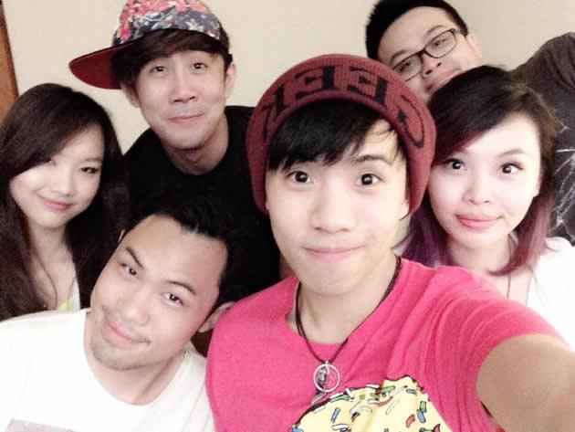 """(From extreme left) Janice """"Foxy"""" Chiang, Aaron Khoo (both from Tree Potatoes), Malaysian YouTuber Joseph Germani, Tan Jia Hao, Ryan Tan and Sylvia Chan (both from Night Owl Cinematics), who collaborated on the YouTube hit """"12 types of Singaporeans on Instagram"""". (Photo courtesy of Tan Jia Hao)"""