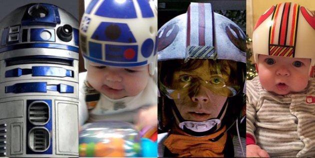 """<p>Baby Jack may not know much about""""Star Wars"""" yet, but we suspect his dad will be watching the movies with him when he's a bit older. (Photos: 20th Century Fox, Mike Sweeney)</p>"""