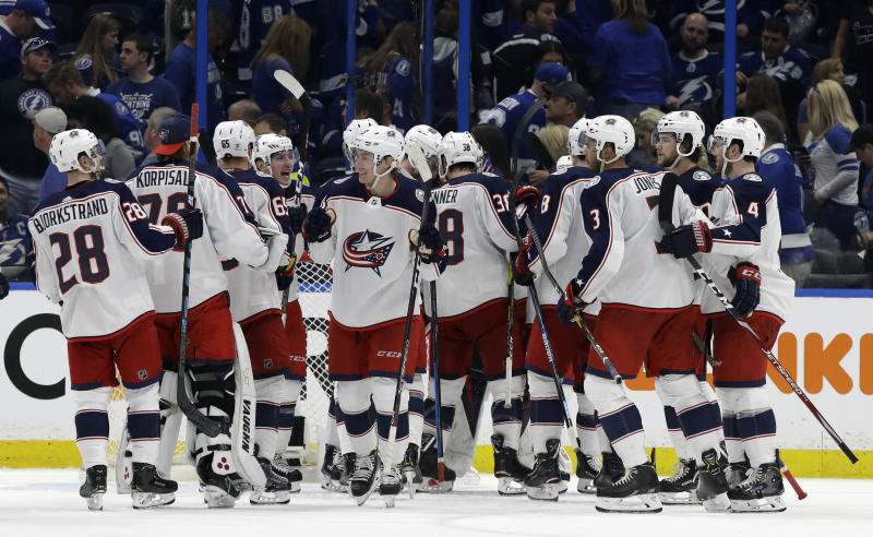 Blue Jackets rally from 3-goal deficit to beat Lightning 4-3