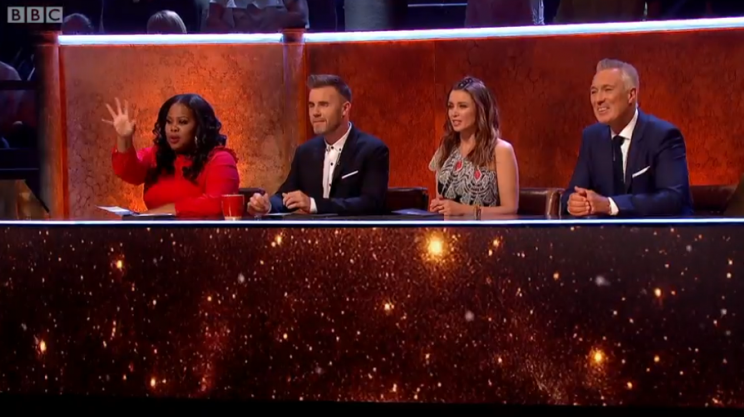 Gary Barlow leads the judges on Let It Shine