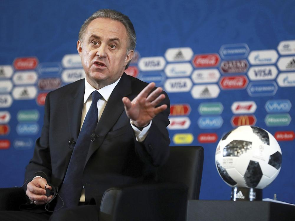 Vitaly Mutko was responsible for Russia's successful World Cup bid. But more than 90 per cent of Russians say his resignation would help restore confidence in the country's sport: AP