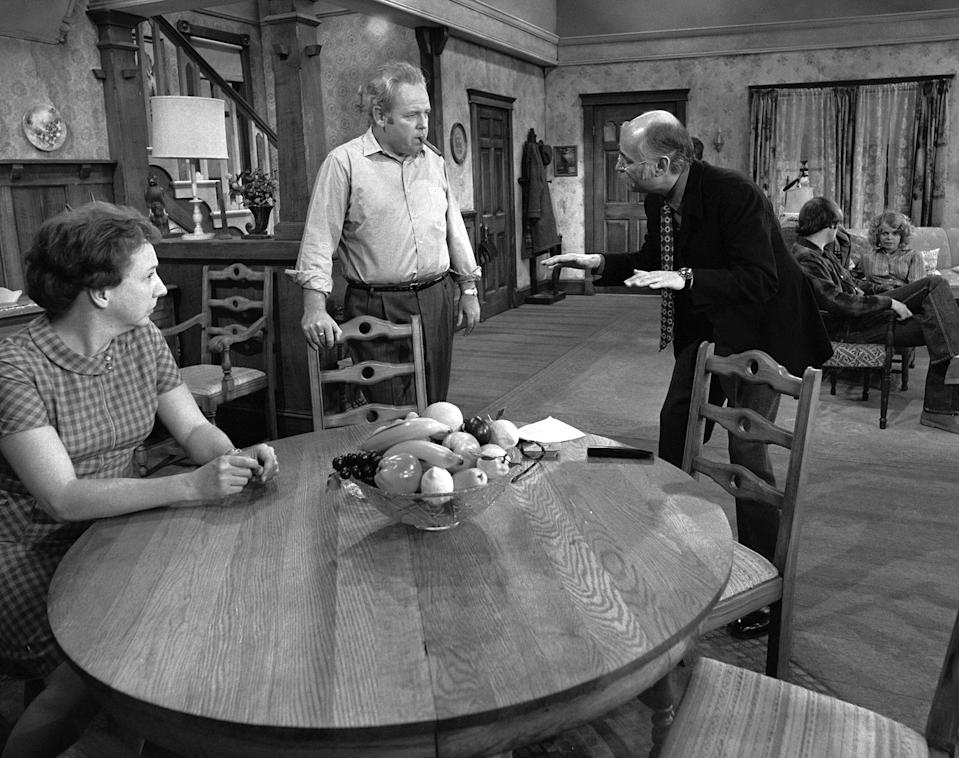 """<p>Lear struck pop culture gold with the creation of <em>All in the Family, </em>the CBS sitcom that ran for nine seasons beginning in 1971. The show tackled some touchy subjects for its time — racism, sexuality, anti-Semitism and women's rights — which made ABC pass on the series and some Americans skip the show despite its No. 1 rating. </p> <p>""""It wasn't a question of whether it was funny or not,"""" Lear told PEOPLE in 1999. """"They peed in their pants. But they were afraid."""" </p> <p>""""These were not new subjects to the American people,"""" he continued. """"They just happened to be subjects that television had not touched."""" The series earned 57 Emmy nominations and 22 wins.</p>"""