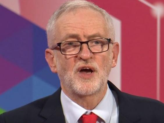 Jeremy Corbyn faces audience questions on Question Time (BBC)