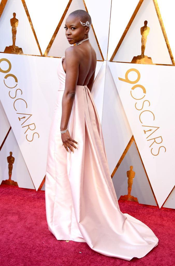 <p>Danai Gurira attends the 90th Academy Awards in Hollywood, Calif., March 4, 2018. (Photo: Steve Granitz/WireImage) </p>