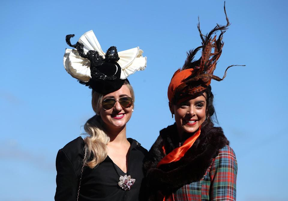 <p>Ice and flame (with a little tartan) [Photo: PA] </p>