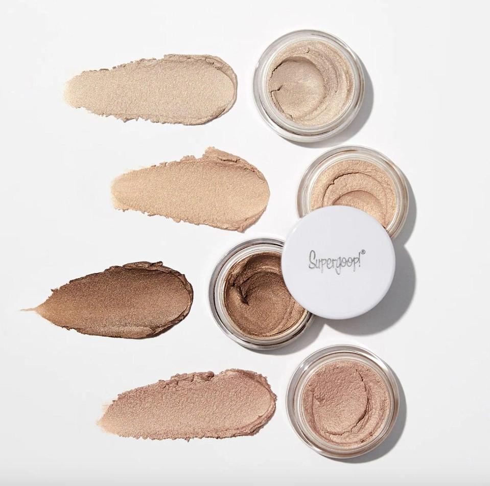 <p>If a lot of sunscreens irritate and sting your eyes, try the <span>Supergoop! Shimmershade Illuminating Cream Eyeshadow SPF 30</span> ($24). Not only will you be able to refresh your eye makeup but you get proper protection as well.</p>