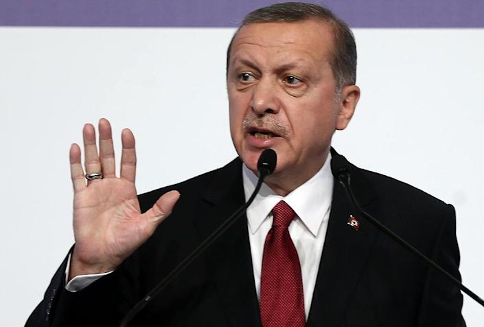Turkish President Recep Tayyip Erdogan insisted Ankara was simply defending its border but said he had no intention of escalating the incident (AFP Photo/Adem Altan)