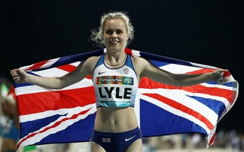 <span>Maria Lyle wins her second gold medal of the week, this time in the T35 200m</span> <span>Credit: Bryn Lennon/Getty Images </span>