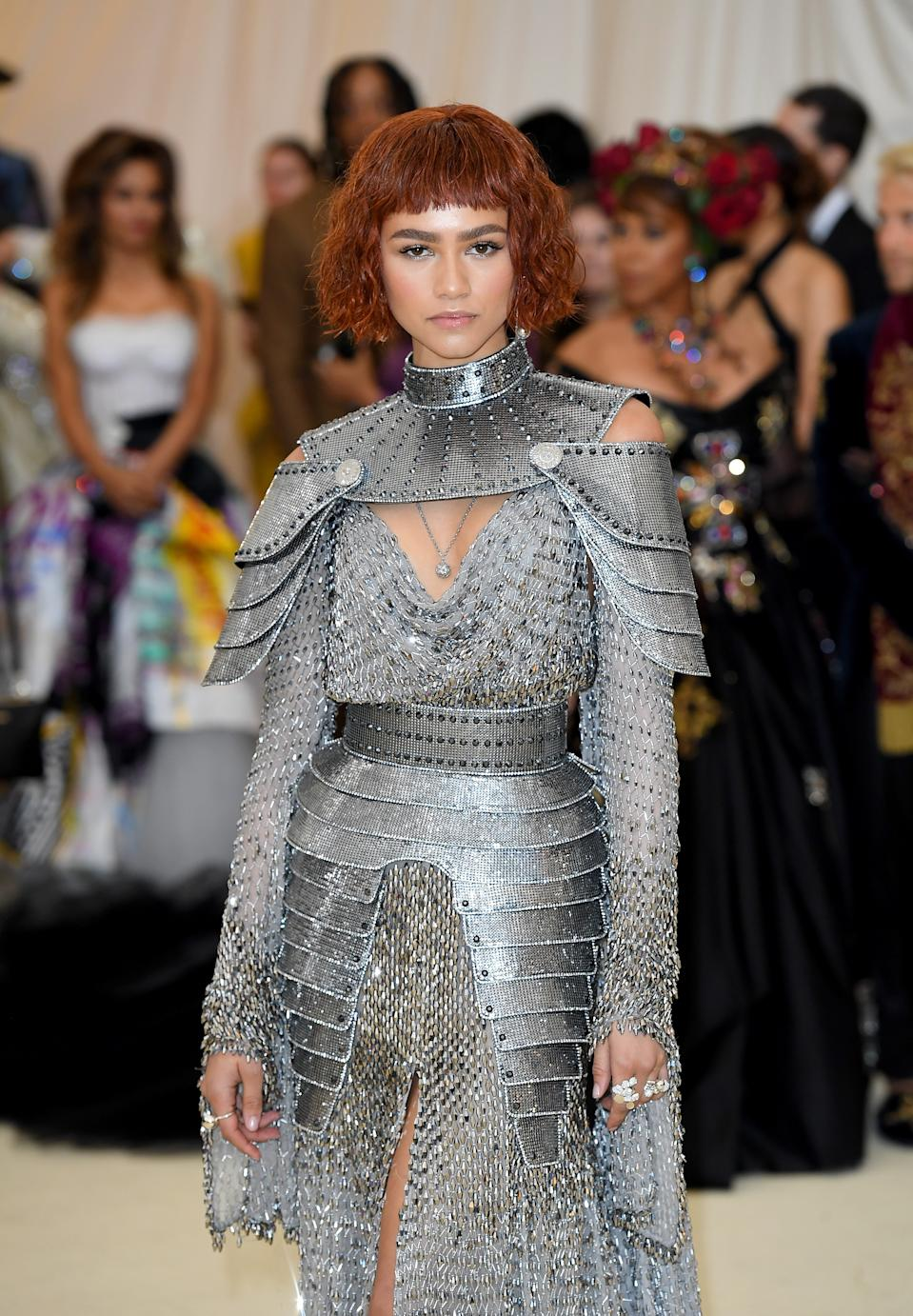 """<h1 class=""""title"""">Zendaya in Atelier Versace, Tiffany & Co. jewelry, and Jimmy Choo shoes</h1><cite class=""""credit"""">Photo: Getty Images</cite>"""