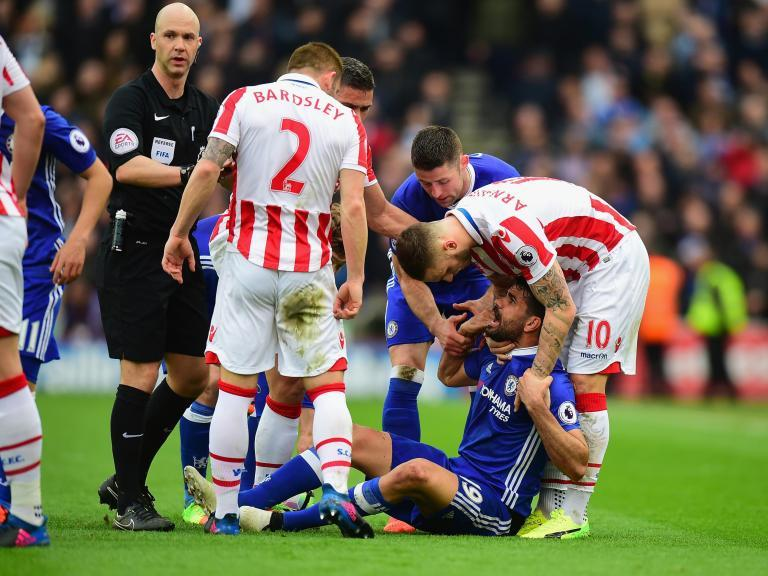Mark Hughes accuses Chelsea's Diego Costa of targetting Stoke's players