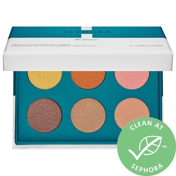 <p>Not only does this <span>Sephora Collection Clean Bouncy Eyeshadow Palette</span> ($18) feature clean, creamy shadows, each one is meant to be applied right with your own two hands, no brush needed.</p>