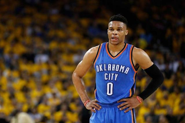 Russell Westbrook could get the first $200 million-plus contract in NBA history. (AP)