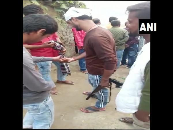 Firing during Chhath Puja celebrations in Bihar (Photo ANI)